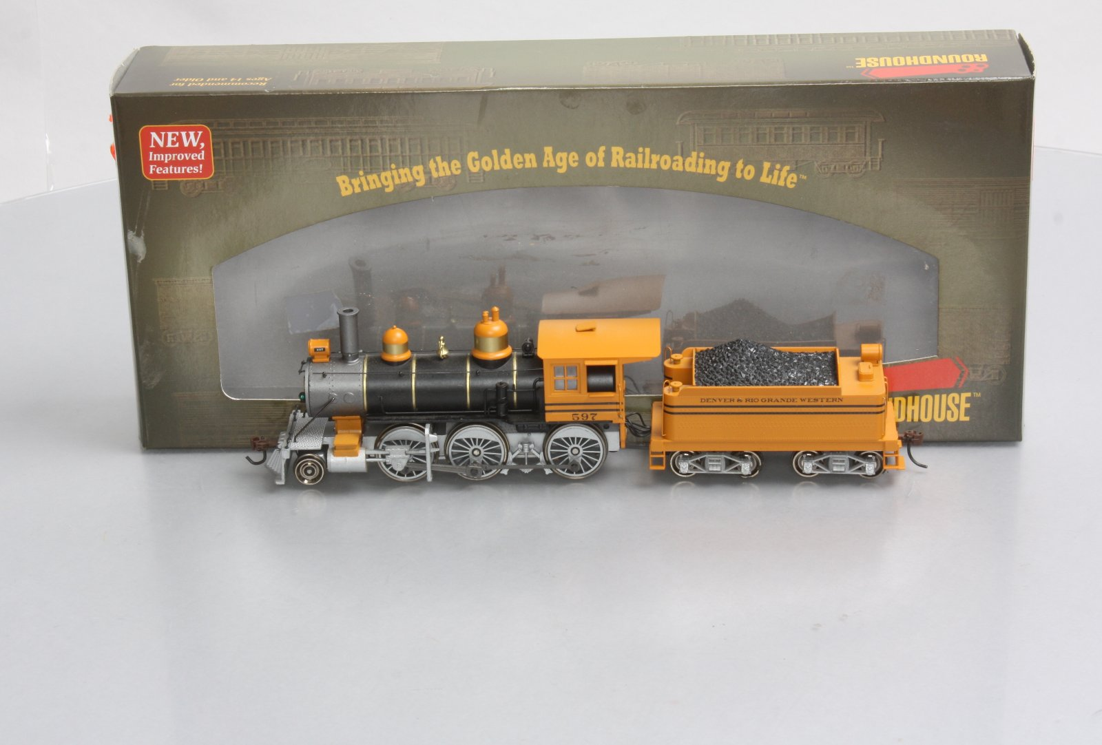 Roundhouse 84778 HO D&RGW RTR Old Time 2-6-0 Steam