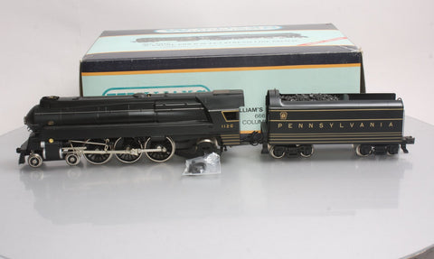 Williams 5010 Brass PRR 4-6-2 K4S Stream Line Pacific Steam & Tender #1120