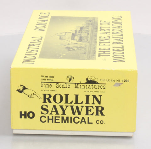 Fine Scale Miniatures 200 HO Scale Rollin Saywer Chemical Co. Craftsman Kit