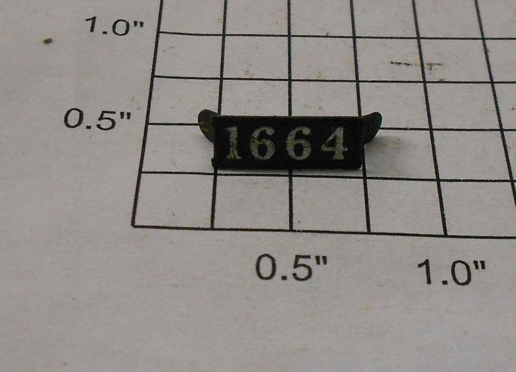 Lionel 1664-NP Metal Number Plate