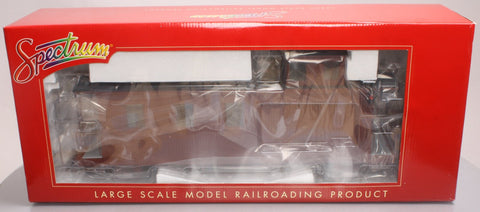Spectrum 88798 1:20.3 Scale Undec. Long Caboose w/Lighted & Detailed Interiors - Metal Wheels