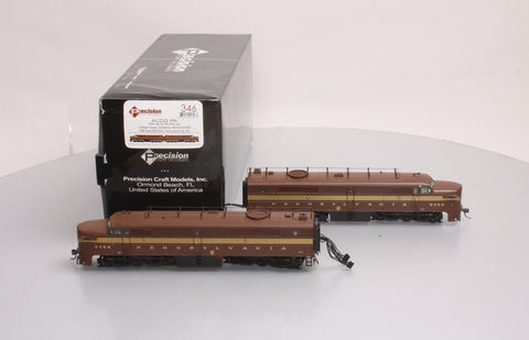 Precision Craft Models 346 PRR 5-Stripe ALCO PA1/PA1 Set with Antenna/Sound/DC/DCC (A/A Lashed Up)