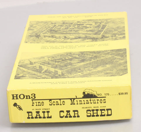 Fine Scale Miniatures 175 HOn3 Rail Car Shed Kit