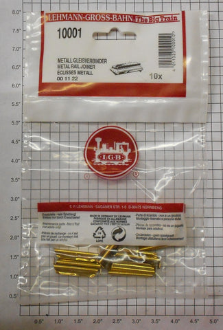 LGB 10001P Brass Track Rail Joiners - (Pack of 10)