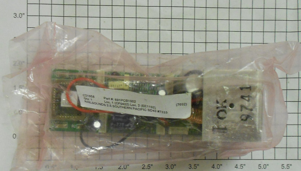 Lionel 691-PCB1-002 Railsounds 2.5 Board Southern Pacific SD40
