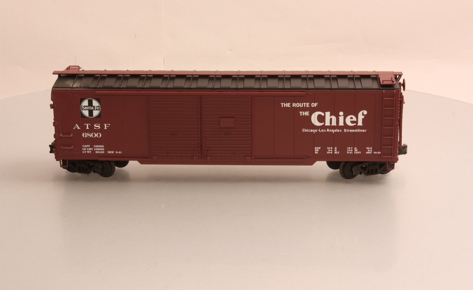 Peco SB-0202-02 2-Rail Santa Fe Double Door Boxcar – Trainz