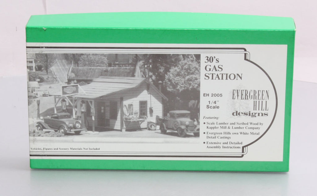 Evergreen Hill 2005 O Scale 30's Gas Station