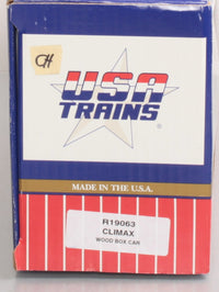 USA Trains R19063 G Climax Wood Boxcar