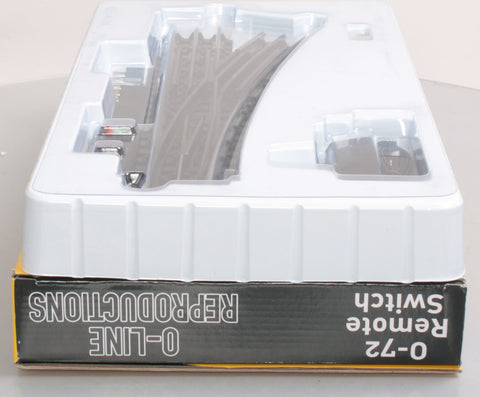 O-Line 606 O Gauge SnapTrack O72 Right Hand Remote Switch Track