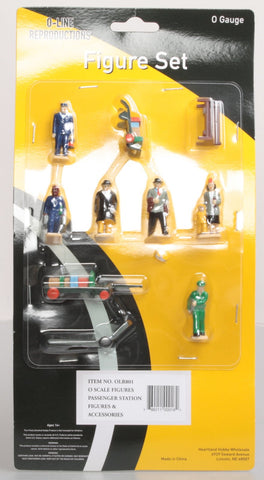 O-Line 801 Passenger Station Figures and Accessories Set (10)