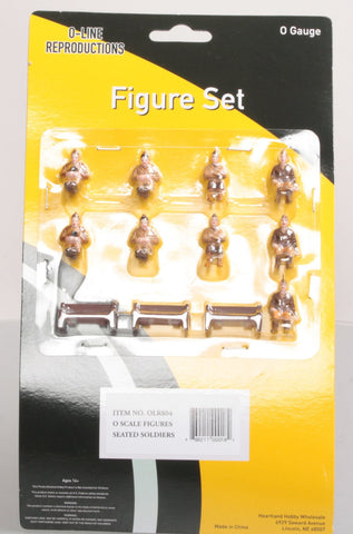 O-Line 804 Seated Soldiers & Benches Figure Set (12)