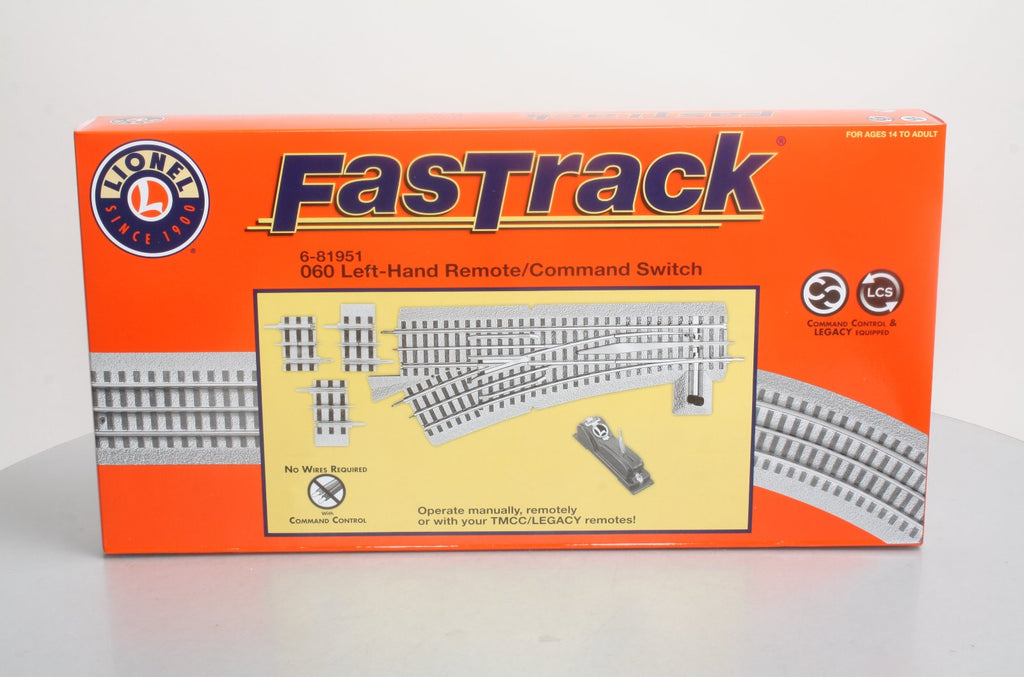 Lionel 6-81951 O O60 FastRack Remote Left Hand Switch Turnout