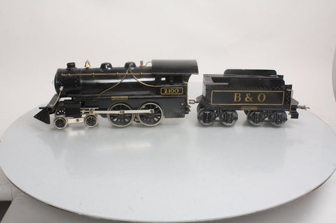 Boucher 2100 Standard Gauge Voltamp Baltimore and Ohio 4-4-0 Steam Locomotive and Tender