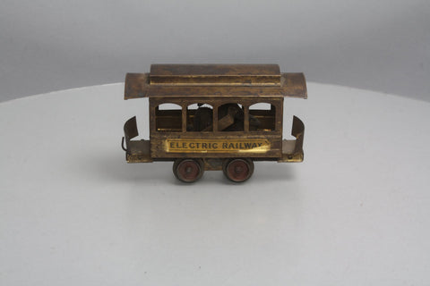 Carlisle & Finch Standard Gauge Vintage Brass Electric Railway Trolley (Ultra Rare)