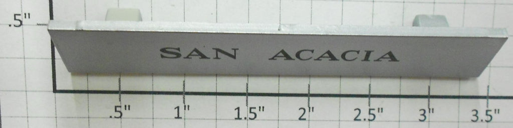 Acme 2000-X22 San Acacia Plastic Sign / Name Plate