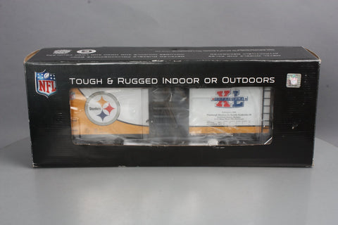 MTH 70-74076 G Scale Pittsburgh Steelers (Super Bowl 40) 40' Metal Wheels Boxcar