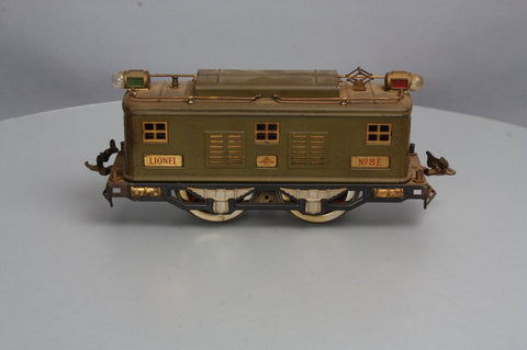 Lionel 8 Standard Gauge Olive 0-4-0 Powered Electric Locomotive