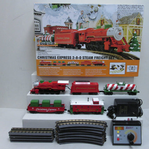 MTH 30-4201-1 Christmas 2-8-0 Steam R-T-R Train Set w/Proto-Sound 2.0