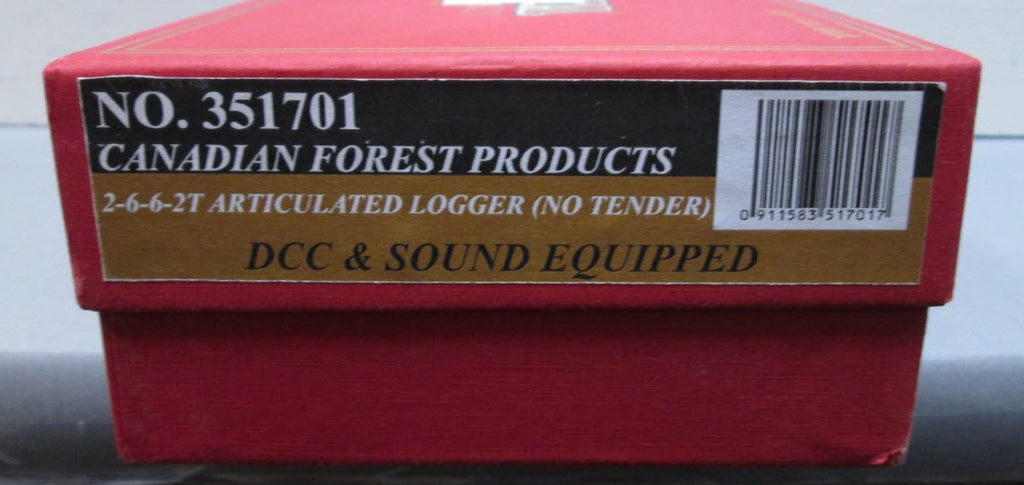 Model Power 351701 HO Canadian Forest Products 2-6-6-2T Articulated Logger #111