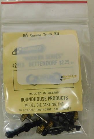 Roundhouse 2913 HO Bettendorf Sprung Truck Kit (Pair)