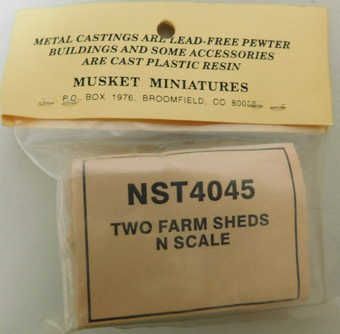 Rustic Rails NST4045 N Scale Two Farm Sheds