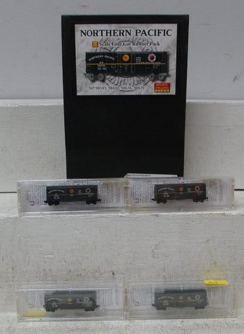 MicroTrains 99400025 Z Scale Northern Pacific 4 Car Reefer Runner Pack