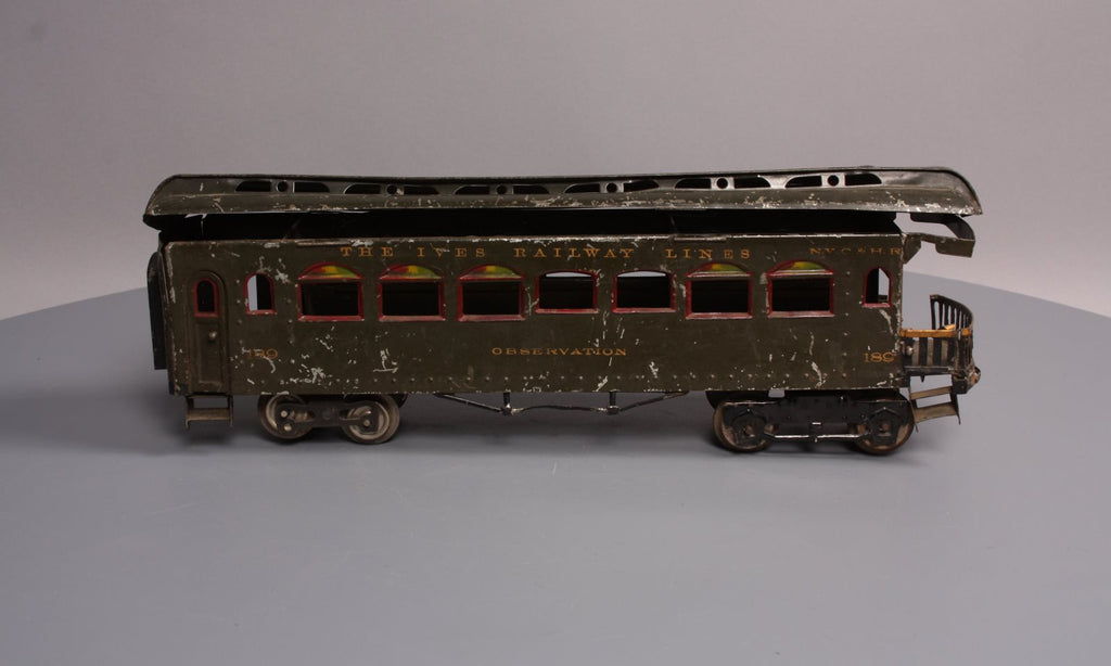 Ives 189 Standard Gauge Tinplate Observation Car