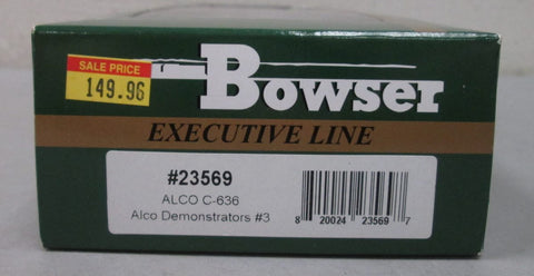 Bowser 23569 HO Demonstrator Alco C-636 Powered Diesel Locomotive #636-3
