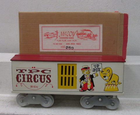 "McCoy 256 Standard Gauge TPC Circus ""Up Boy"" Boxcar"
