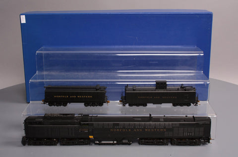 KMT/Alco Models D-168 HO BRASS N&W Jawn Henry  C-C+C-C 3-Unit Steam Set-RARE LN