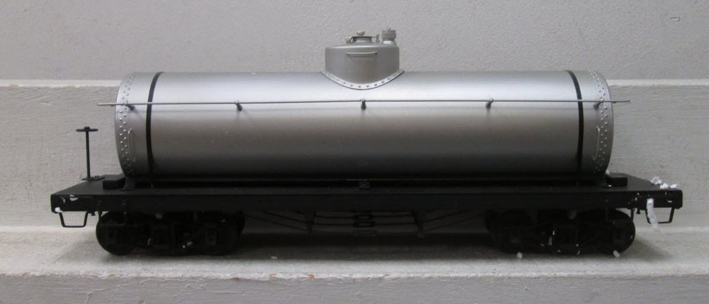 Accucraft 1:20.3 Undecorated Brass Single Dome Tank Car with Metal Wheels
