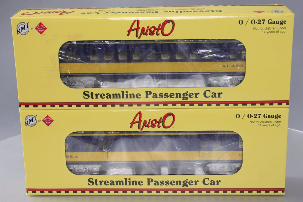 RMT 93133-1 O Alaska Streamliner Passenger Baggage & Coach Car (Set of 2)