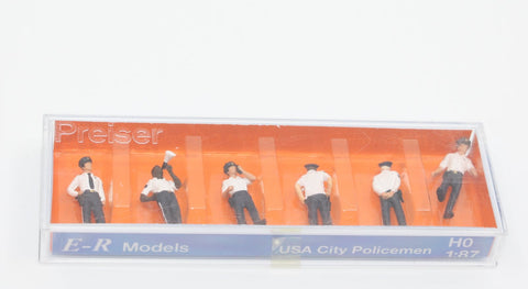 E-R Models 1010062 HO USA City Policemen Figures (Pack of 6)
