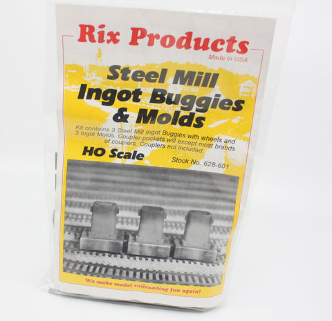 Rix Products 628-601 HO Steel Mill Ingot Buggies & Molds