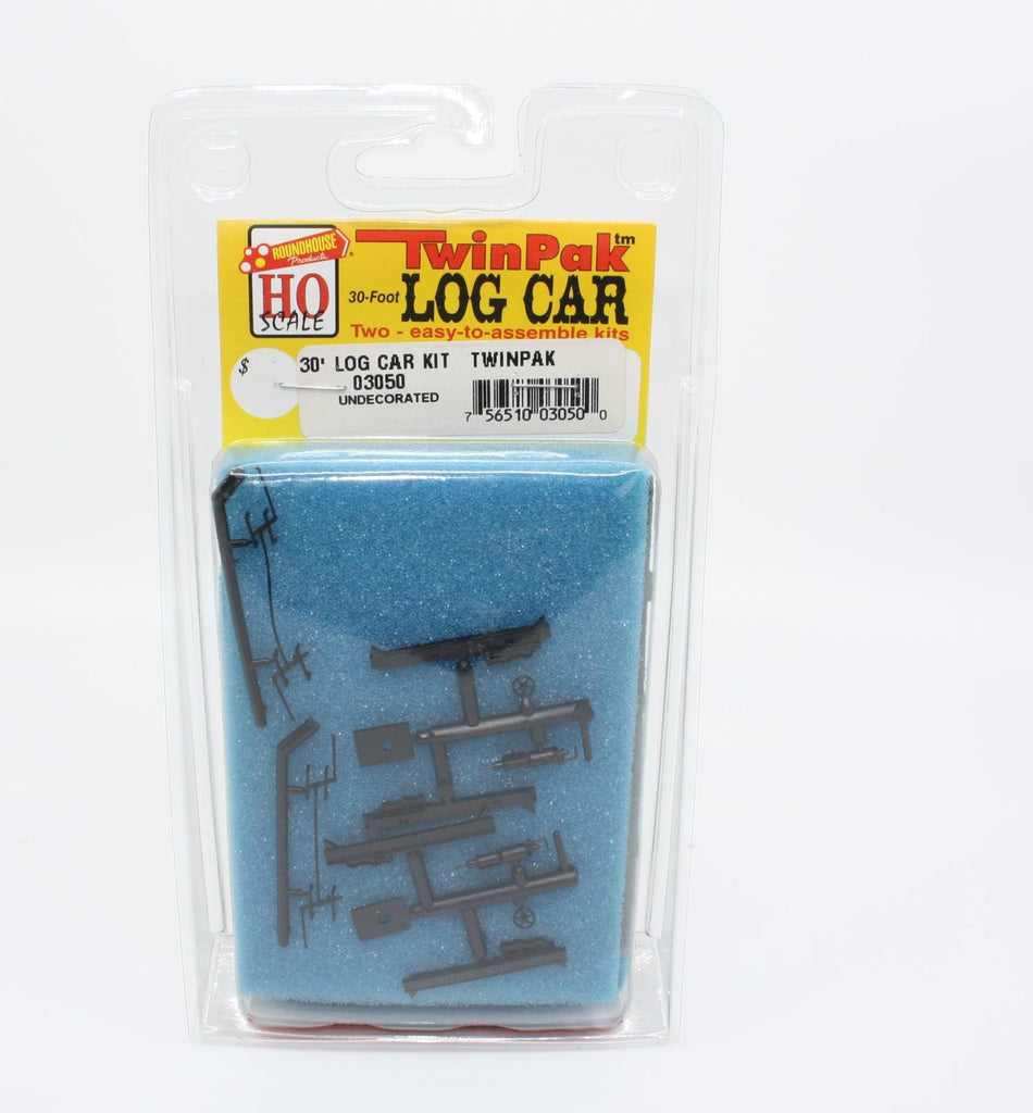Roundhouse 03050 HO 30' Log Car Kit (Pack of 2)