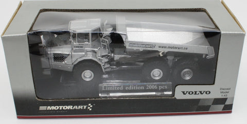 Motorart 13145 1/43 2006 Issue Silver Volvo A40D Articulated Dump Truck