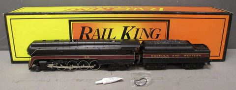 MTH 30-1105-0 4-8-4 Norfolk & Western J Class Steam Loco & Tender  w/ Whistle EX