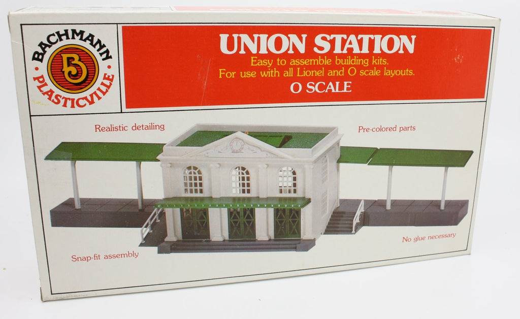 Bachmann 1958 O Plasticville Union Station Classic Building Kit