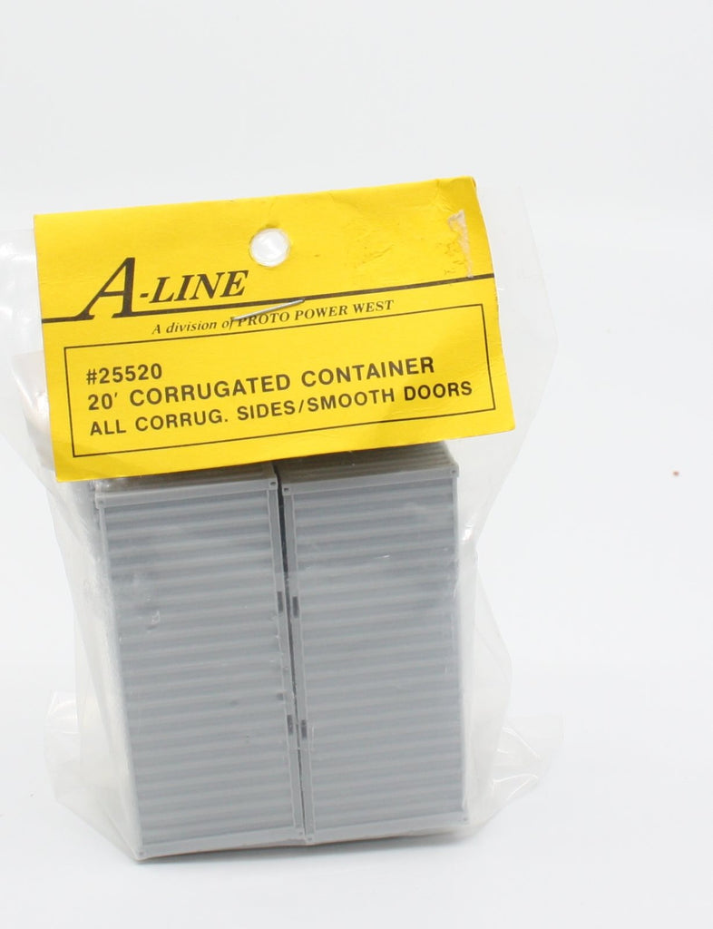 A-Line 25520 HO 20' Smooth Doors/All Corrugated Sides Container (Pack of 2)