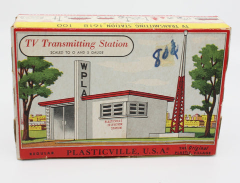 Bachmann 1618 Plasticville, USA Oand S Scale 1618 WPLA TV Transmitting Station Kit