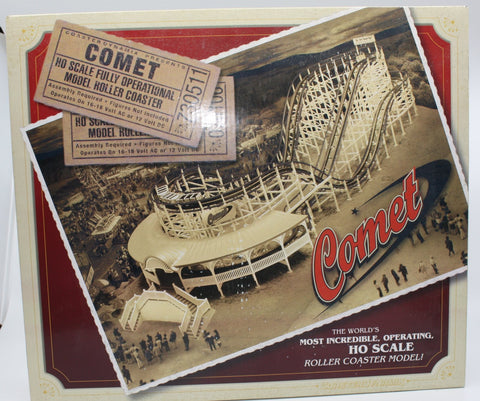 "CoasterDynamix WC002 HO Scale ""The Comet"" Motorized Wooden Roller Coaster Kit"