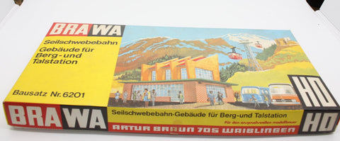 Brawa 6201 HO Cable Car Building for Mountain and Valley Station Kit