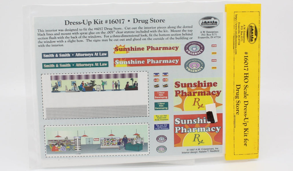 Smalltown USA 16017 HO Scale Dress-Up Kit for Drug Store
