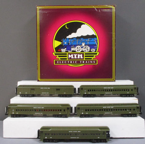 MTH 20-4076 US Army  70' Madison 5-Car Passenger Set LN/Box