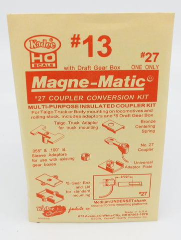 Kadee 13 HO #27 Magne-Matic Coupler Conversion Kit
