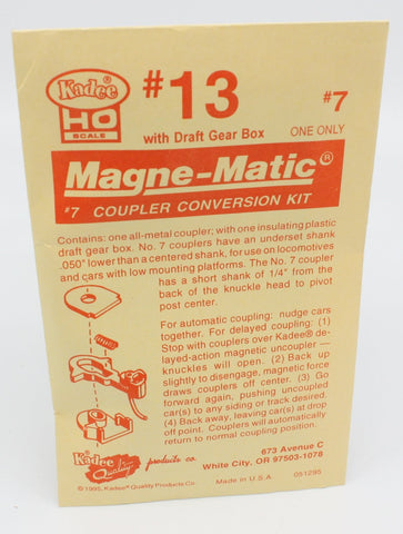 Kadee 13 HO #7 Magne-Matic Coupler Conversion Kit