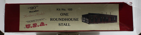 Korber 105 HO Scale 1-Stall Roundhouse Building Kit