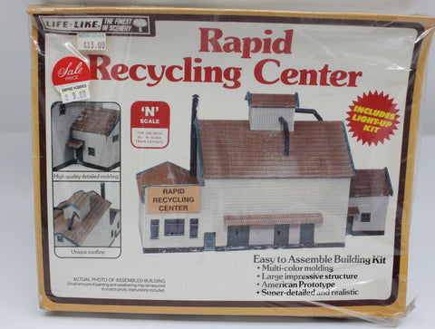 Life Like 7473 N Scale Rapid Recycling Center Building Kit