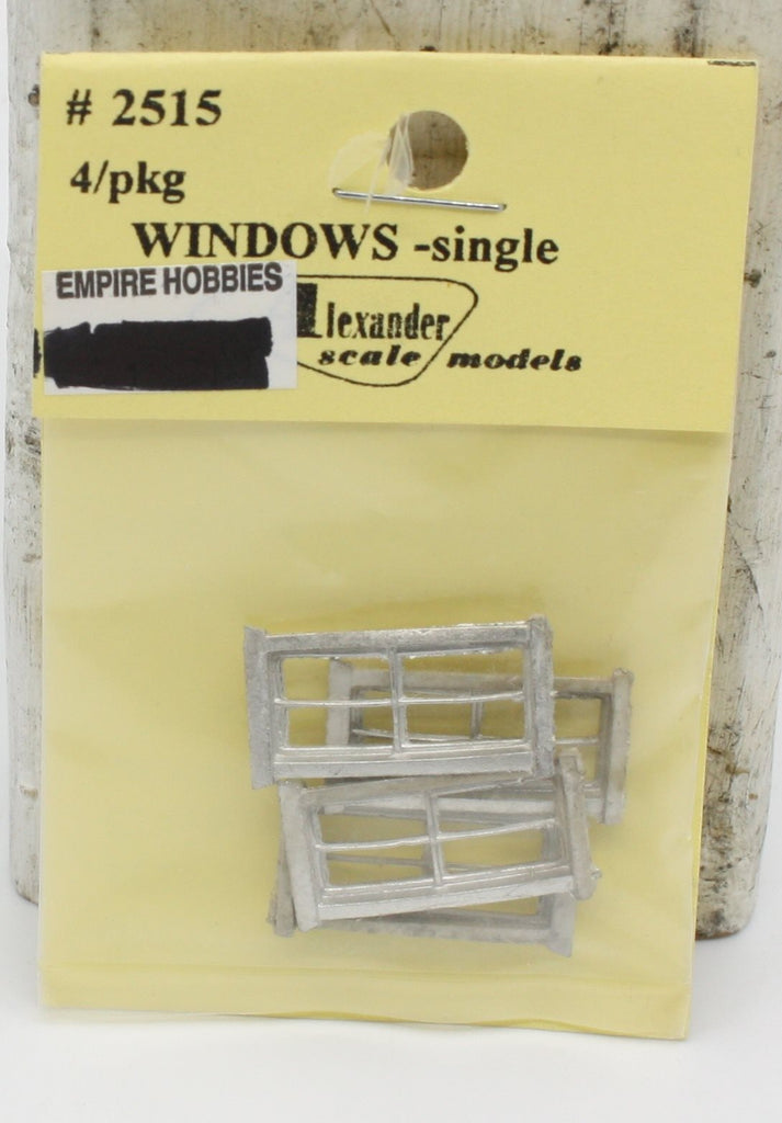 Alexander Scale 2515 HO Window - Single (Pack of 4)