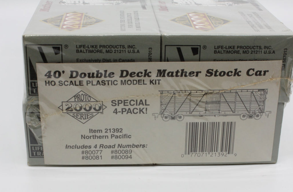 Proto 2000 21392 HO Scale 40' Double Deck Mather Stock Car 4-Pack